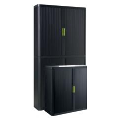 Cupboard - black, green handle