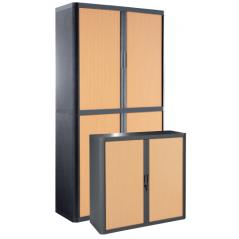 Cupboard - Wood and dark grey
