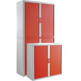 Cupboard - white, red