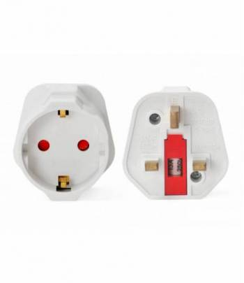 Round 3 Pin Plug Adapter White