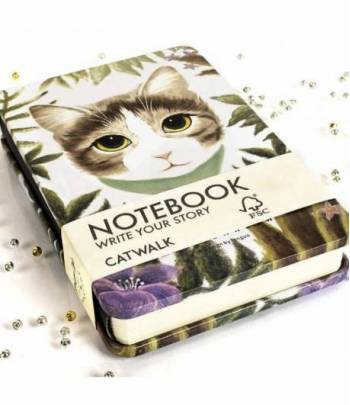 Metal Notebook Cats