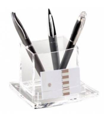 Transparent pencil holder