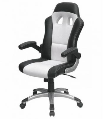 MTGA Swivel Racing Chair White